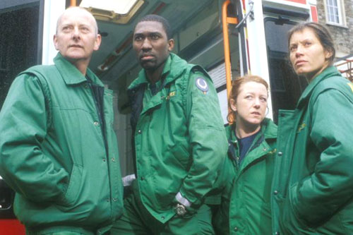 Some of the Casualty cast from 2000 - Josh, Finlay, Mel and Penny